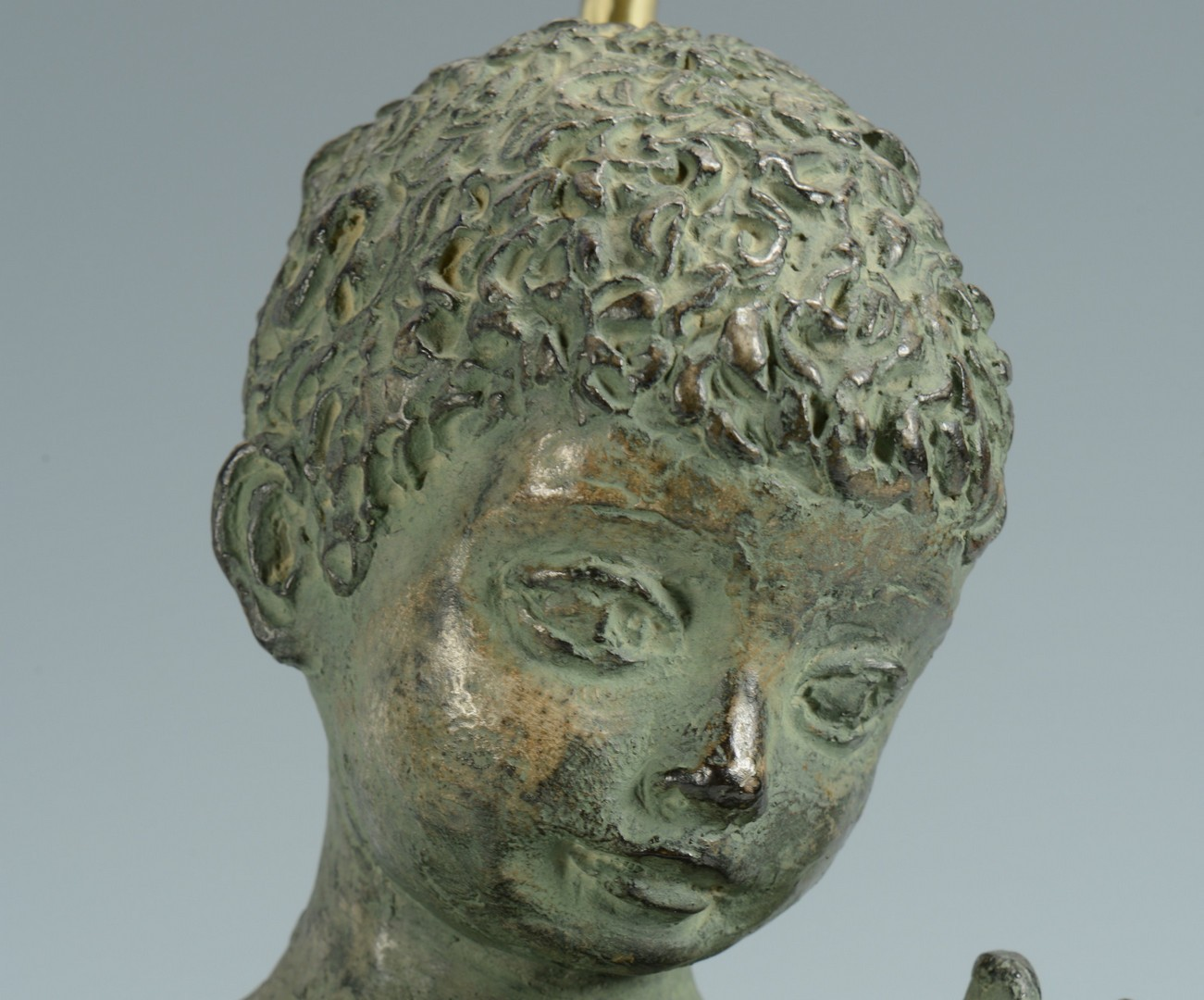 Lot 3383262: Figural Lamp, Boy with Carp