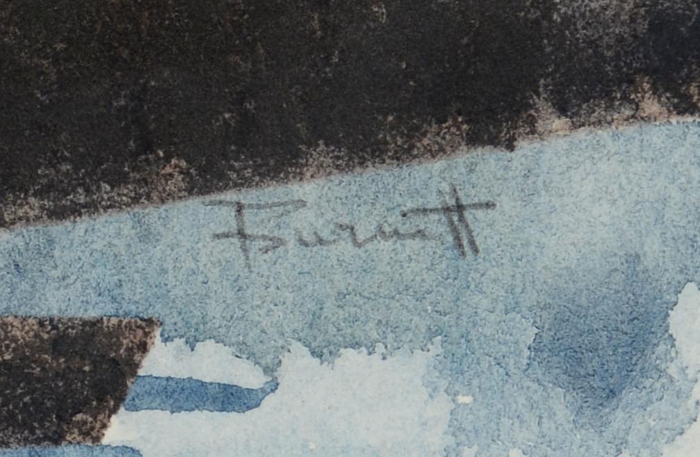 Lot 3383267: Ted Burnett W/C, boats in dock