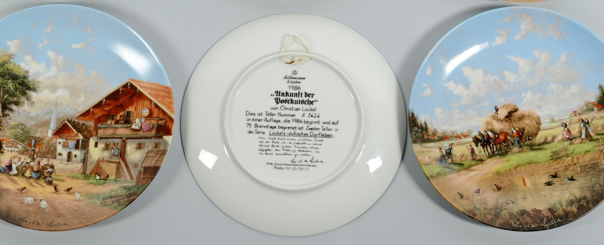 Lot 3389467: Danish and German Collectible Plates