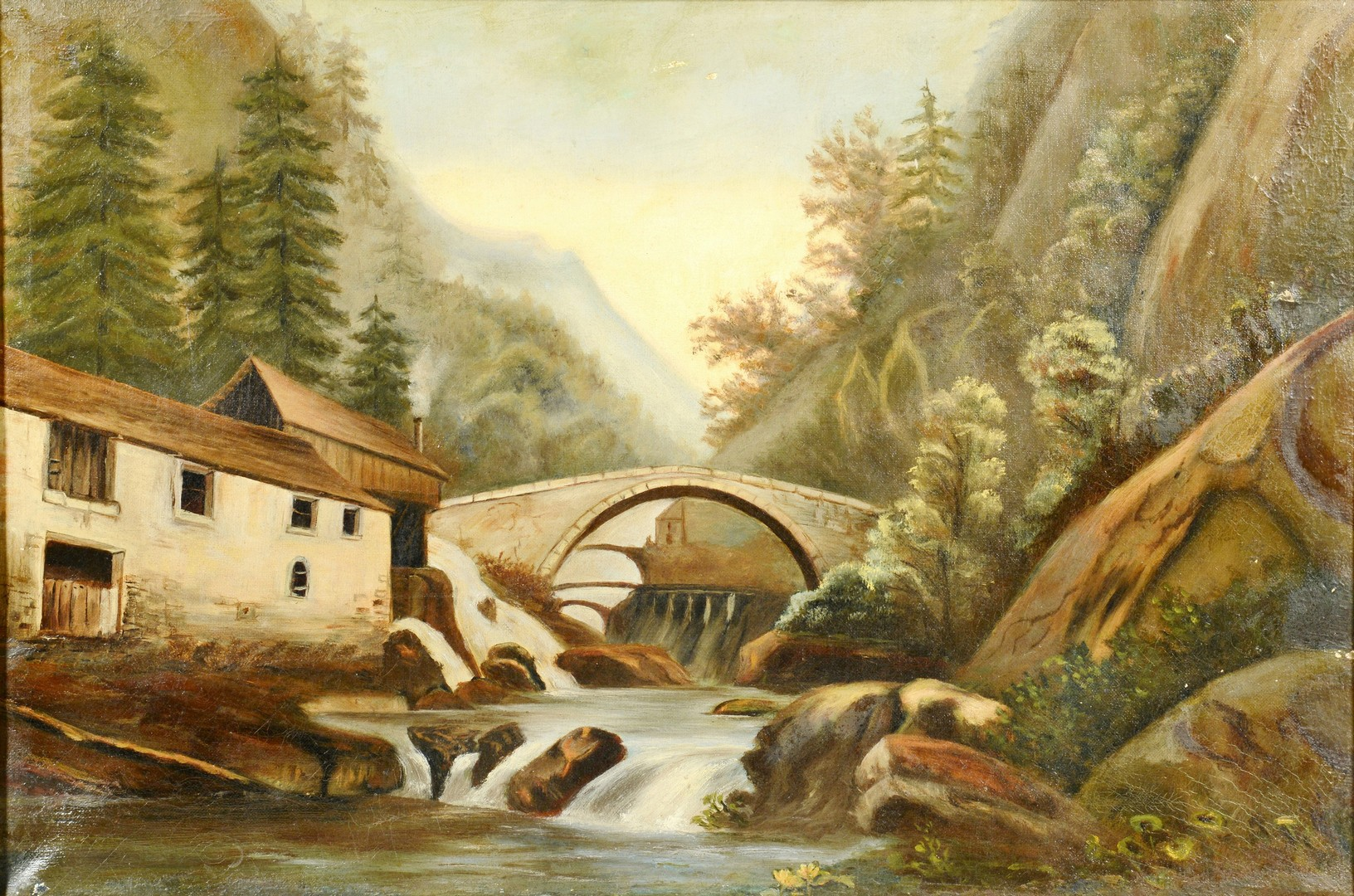Lot 3391832: Two 19th c. European Landscape Oils on Board
