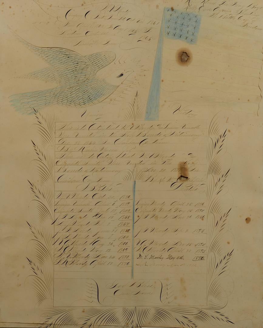 Lot 100: TN Civil War Union Birth & Death Record