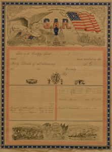 Lot 101: TN G.A.R. Soldier's Family Record