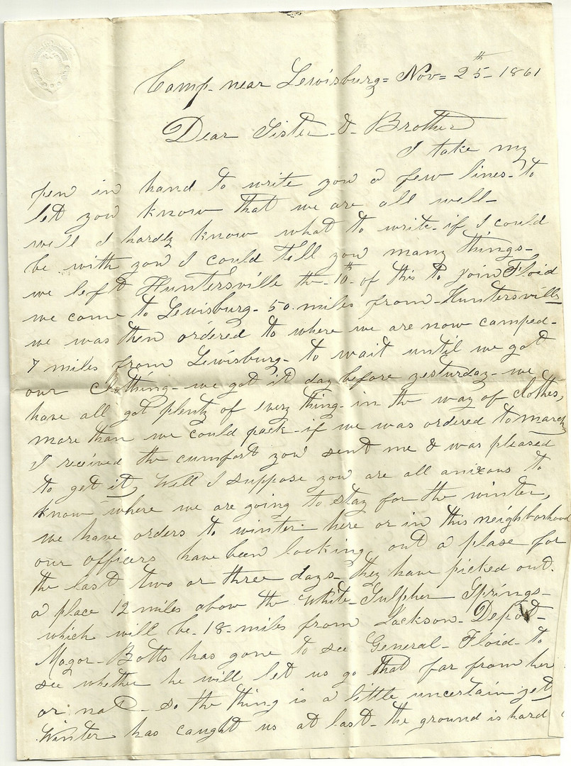 Lot 103: CSA 8th TN Infantry Civil War Archive