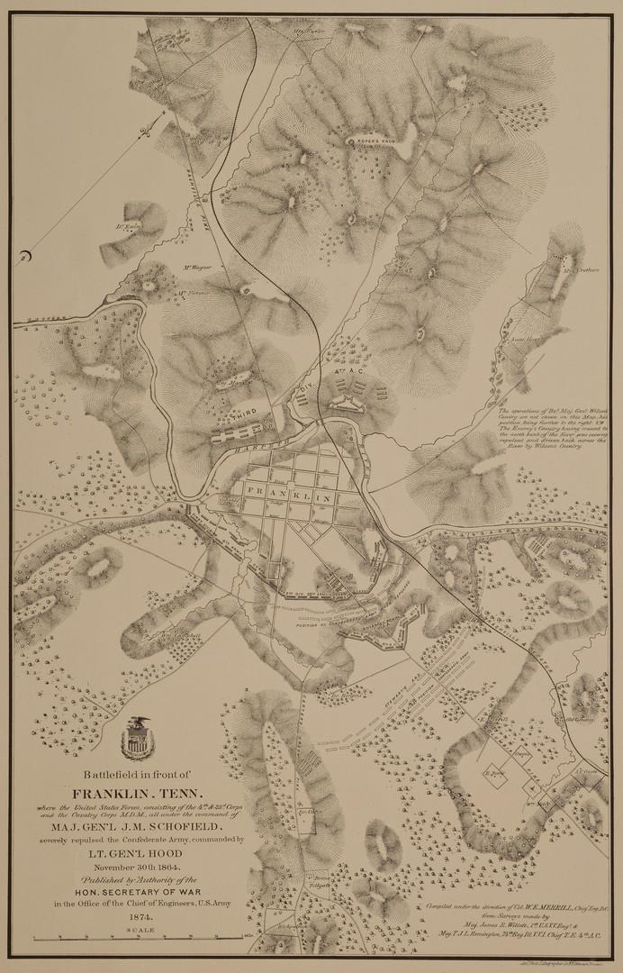 Lot 104: 1874 Franklin Battlefield Map