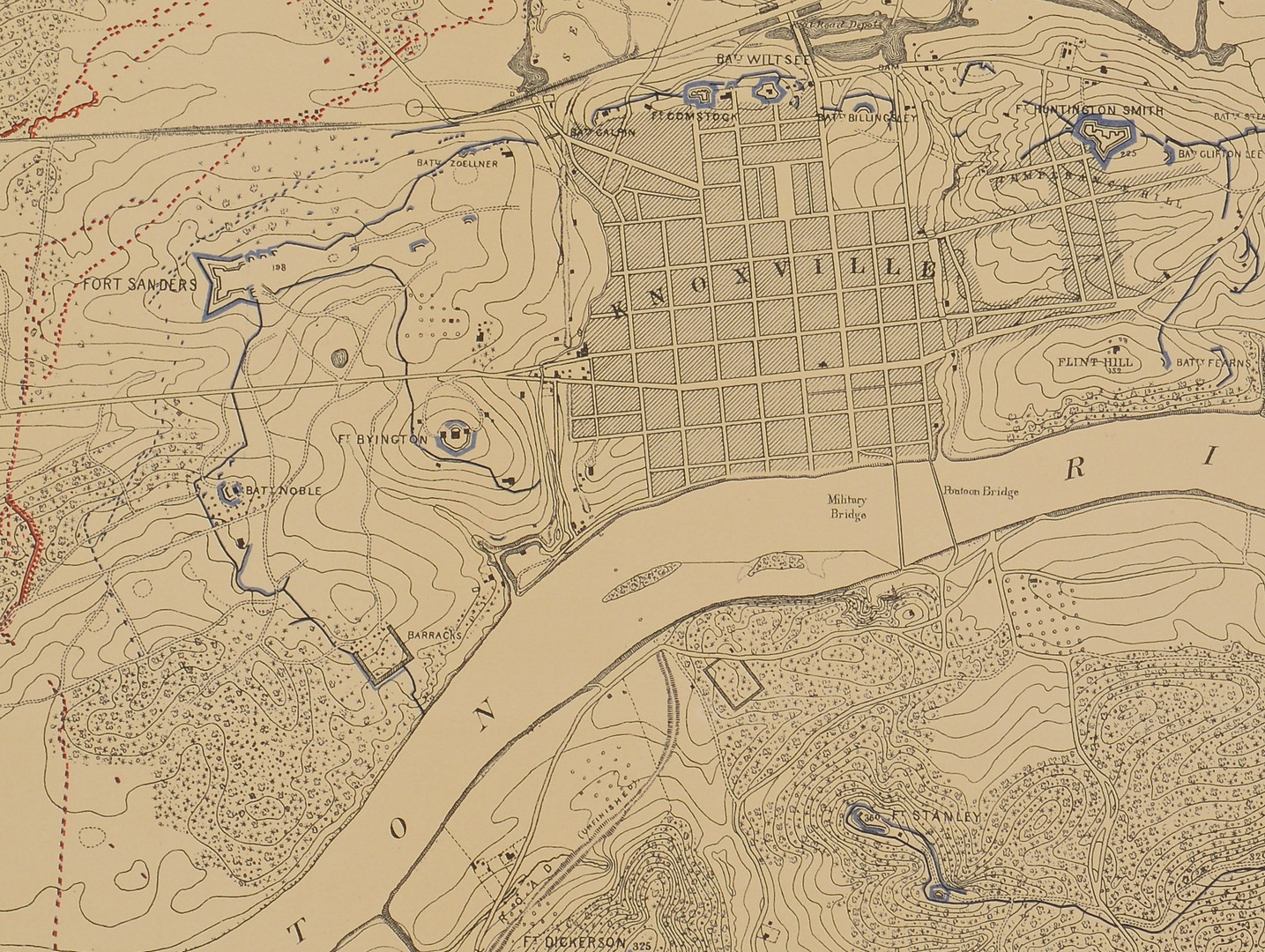 Lot 105: Knoxville Civil War Map, Poe