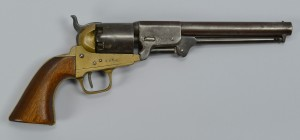 Lot 110: Civil War brass frame Revolver, poss. Griswold