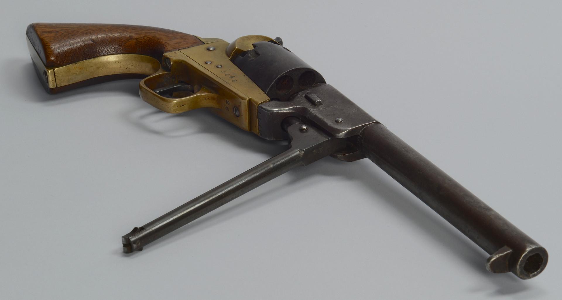 Lot 110: Civil War brass frame Revolver, poss. Griswold