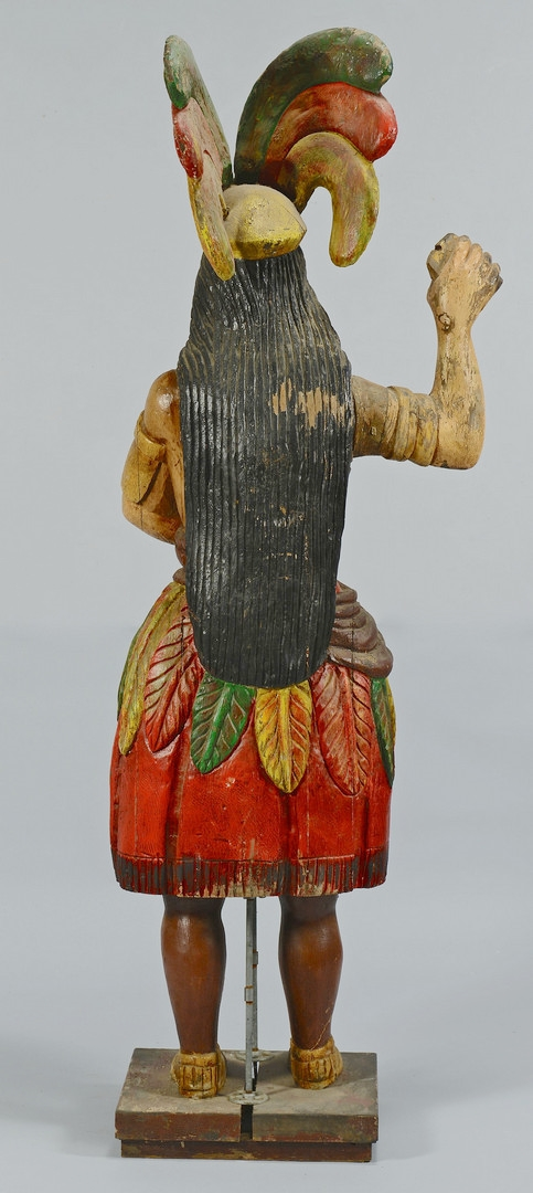 Lot 119: Cigar Store Indian Princess, Painted and Carved