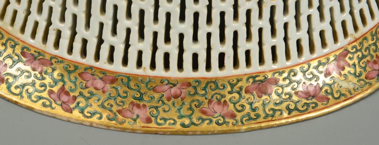Lot 11: Famille Rose Butterfly Basket