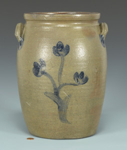 Lot 128: East TN Stoneware Jar attr. Decker