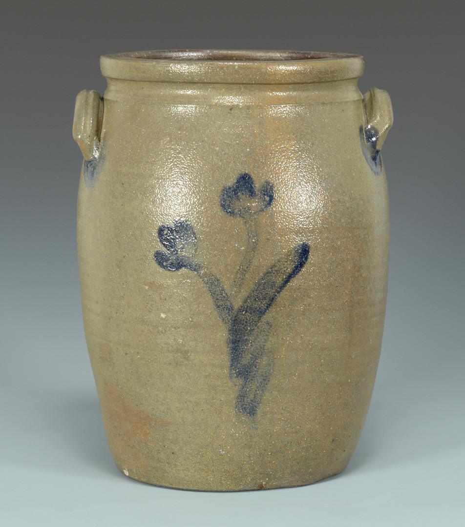 Lot 128: East TN Stoneware Jar attr. Decker