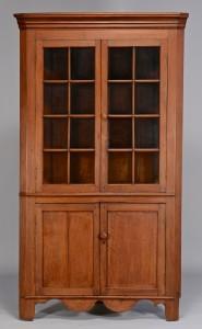 Lot 138: East TN walnut corner cupboard