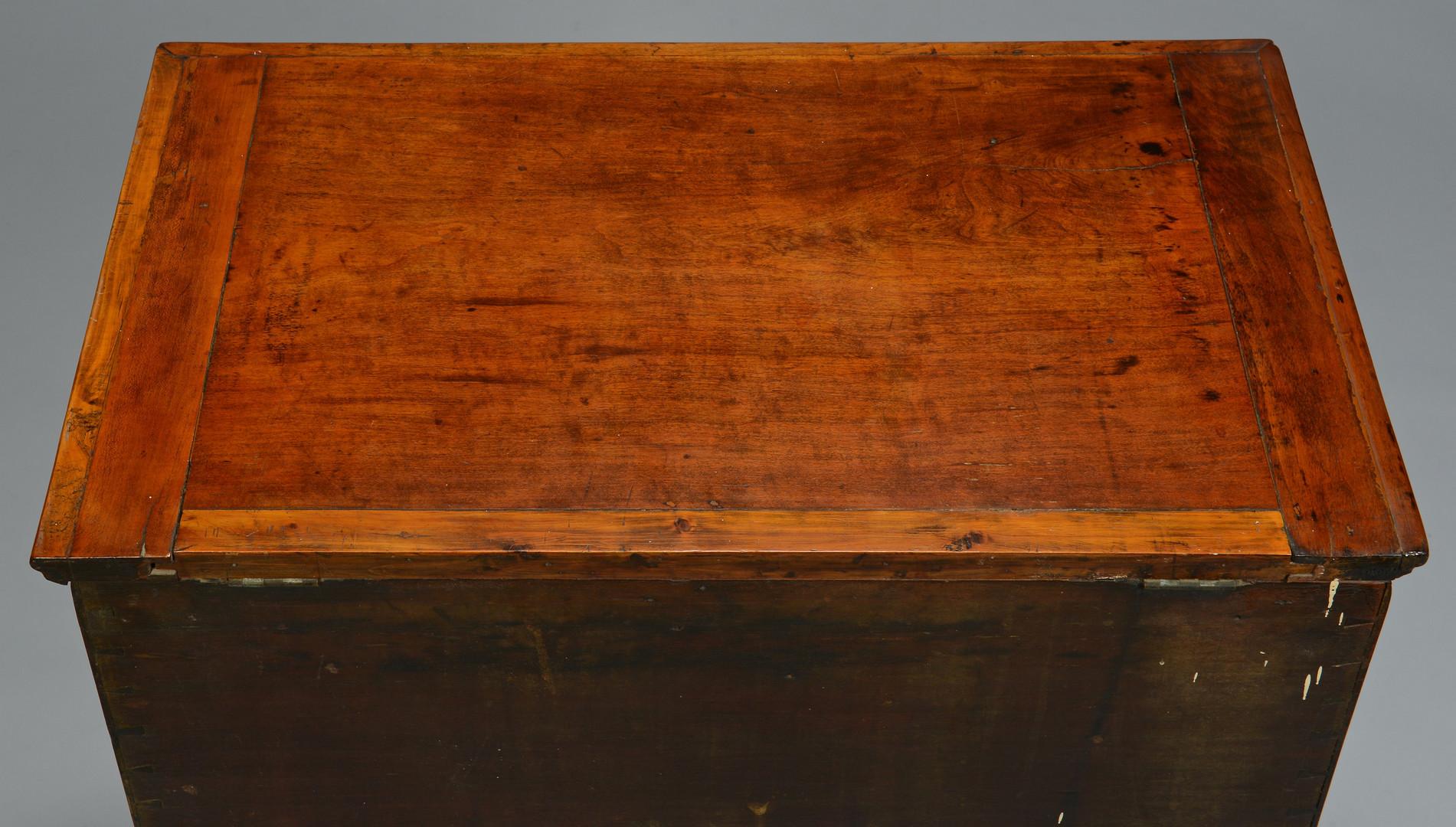Lot 141: Williamson Co. TN sugar chest, Mooreland Plantation