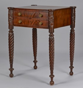 Lot 142: Salem, MA Carved Work Table