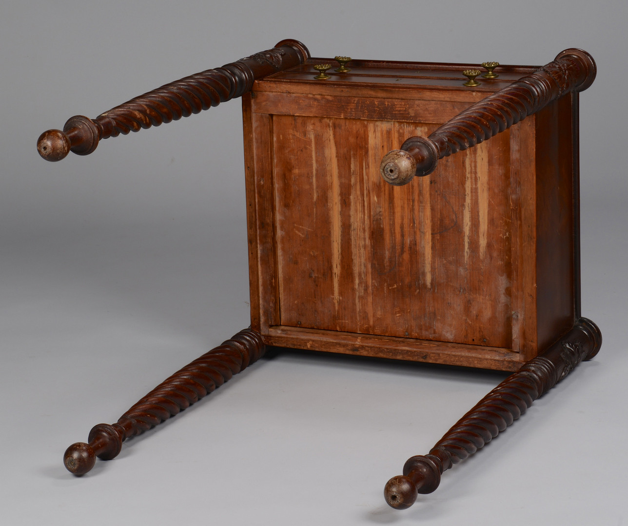 Lot 142: Salem, MA Carved Work Table