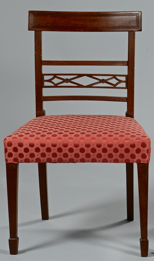 Lot 143: Pair Hepplewhite Side Chairs