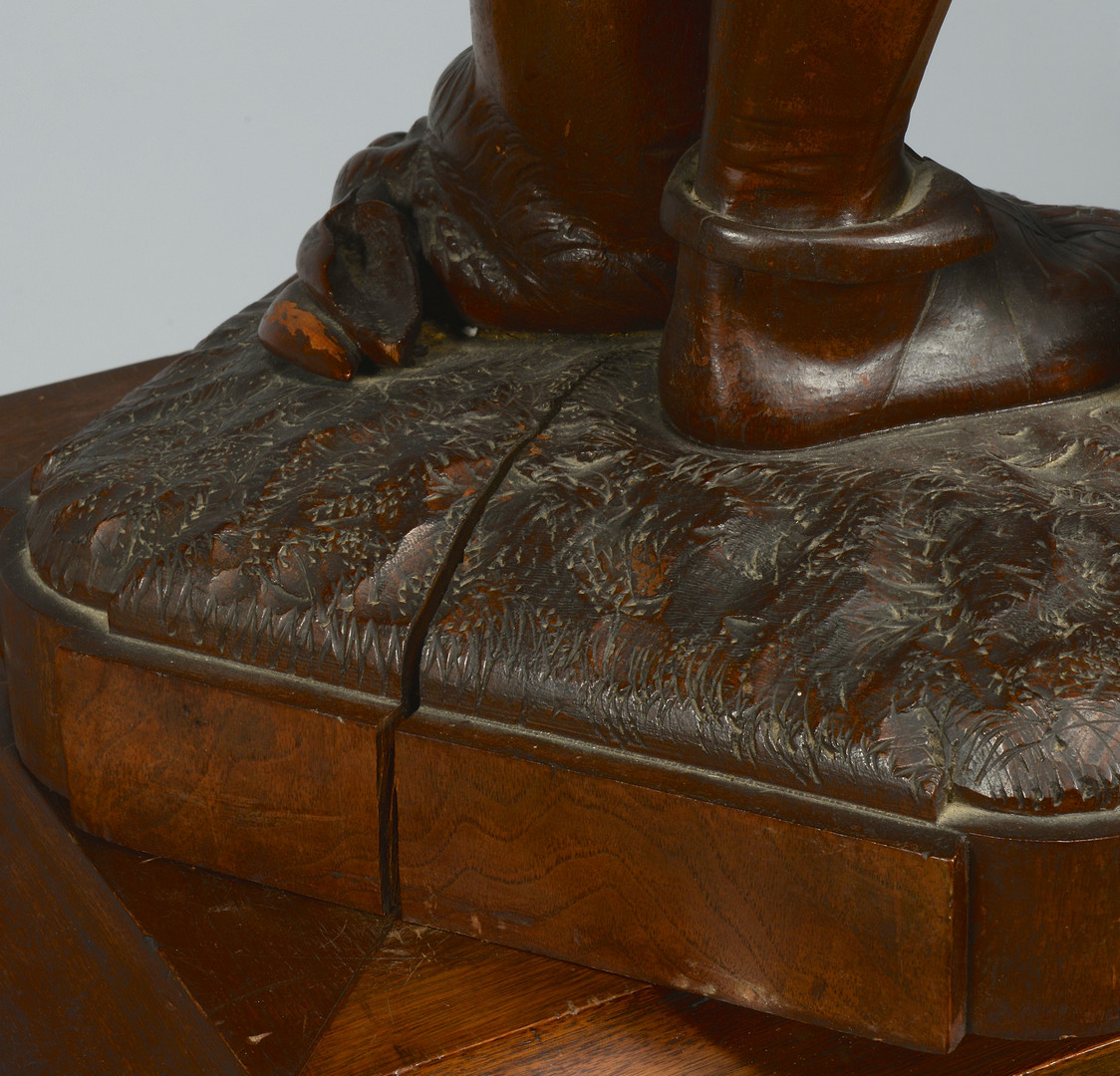 Lot 145: Lg. Continental Game Carving w/ Stand