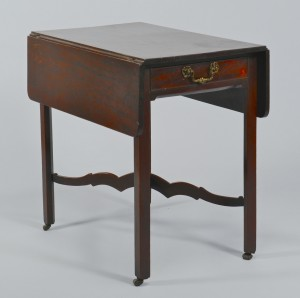 Lot 148: Georgian Mahogany Pembroke Table