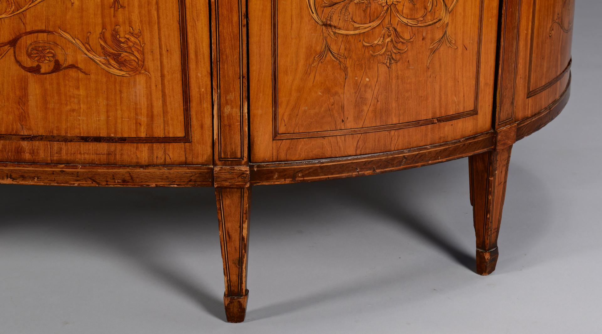 Lot 150: Adam Style Marquetry Desk