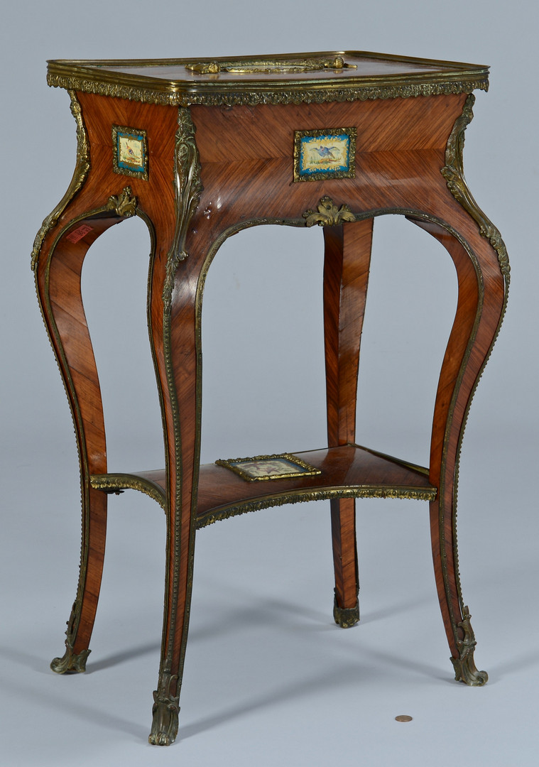 Lot 152: French Louis XV Style Table w/ Plaques