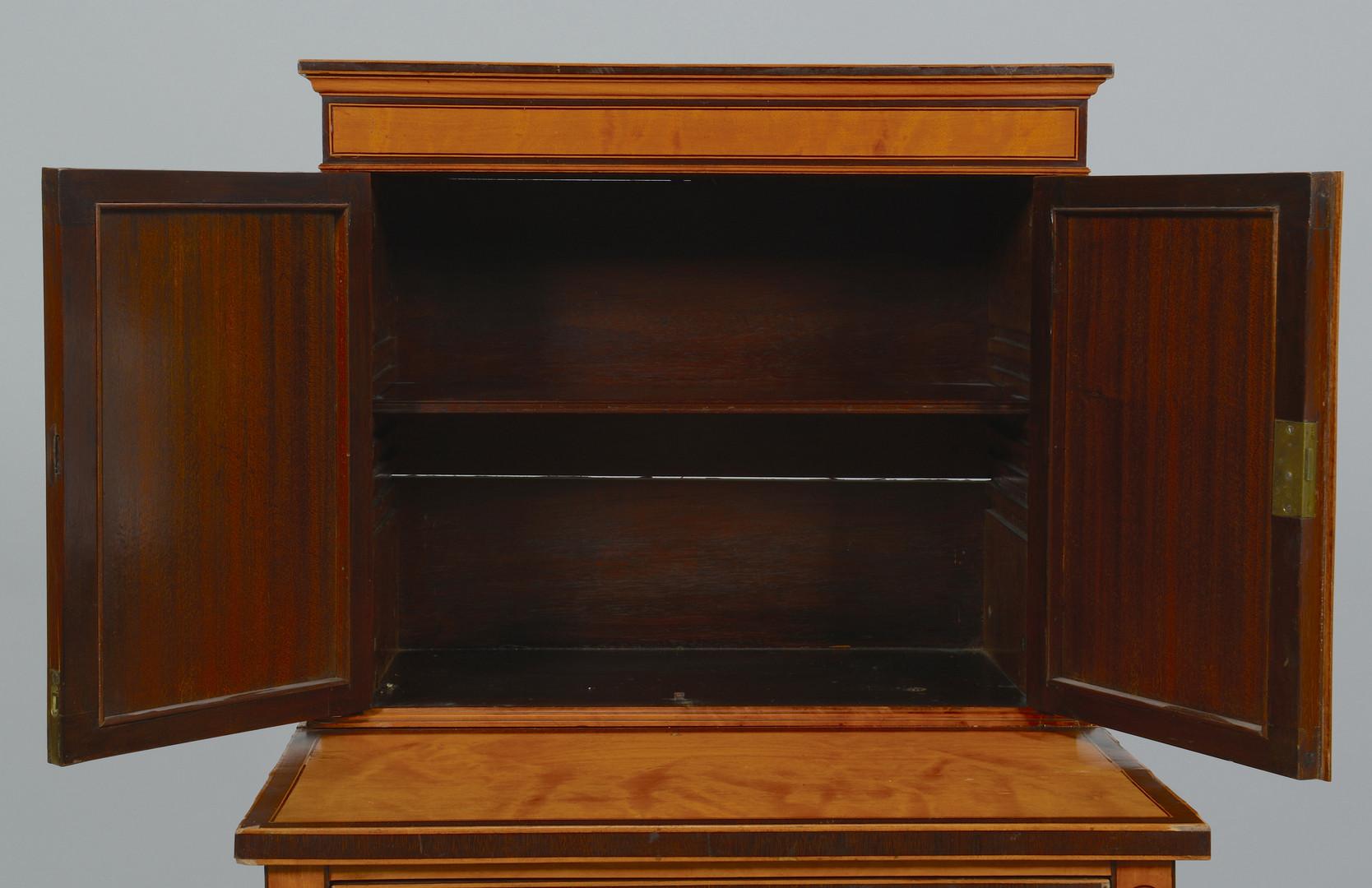 Lot 154: Painted Satinwood Ladies' Desk