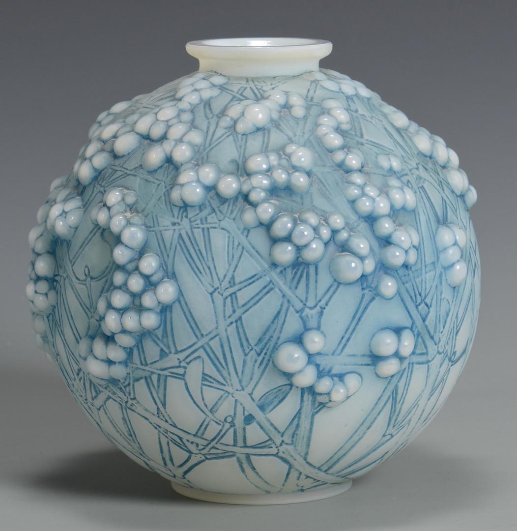 Lot 162: R. Lalique Vase, Druides, c.1924