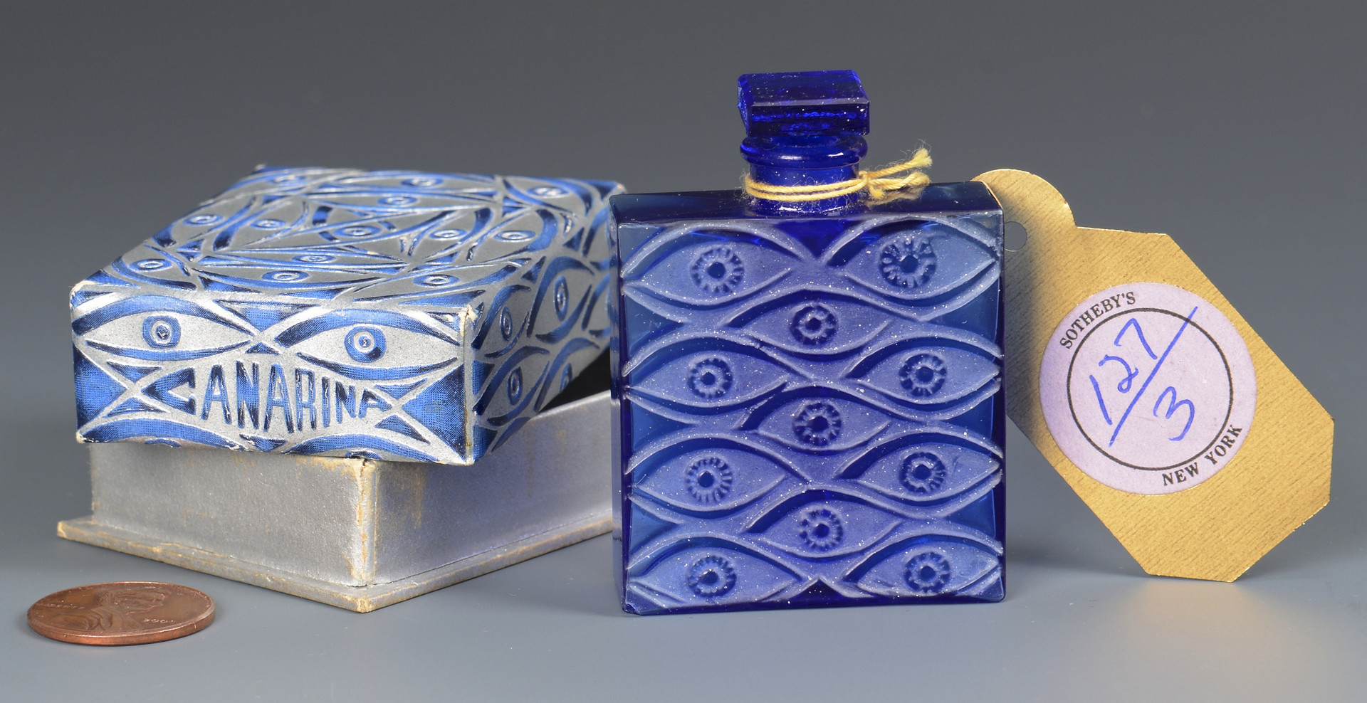 Lot 163: R. Lalique Canarina Perfume Bottle