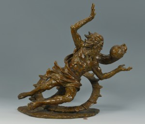 "Lot 166: Laszlo Ispanky Bronze, ""Let There Be Light"""