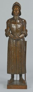 Lot 167: Bronze Joan of Arc, after Prosper d'Epinay