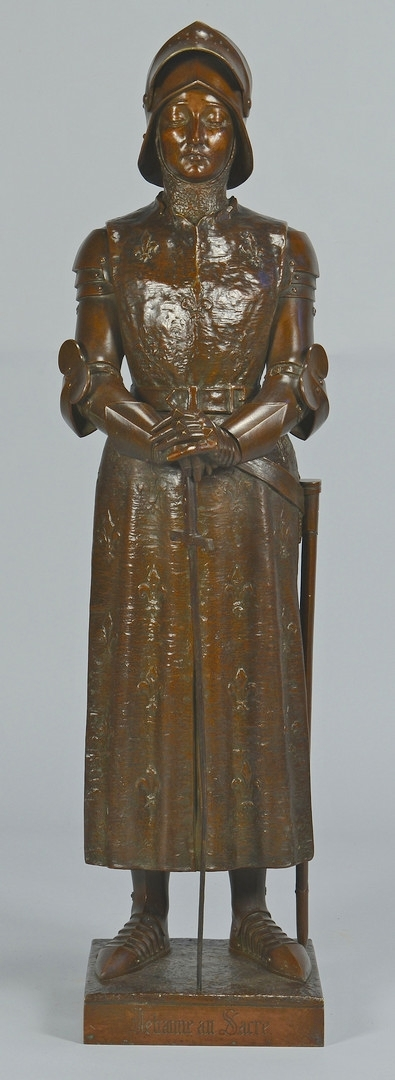Lot 167: Bronze Joan of Arc, after Prosper d'Epinay