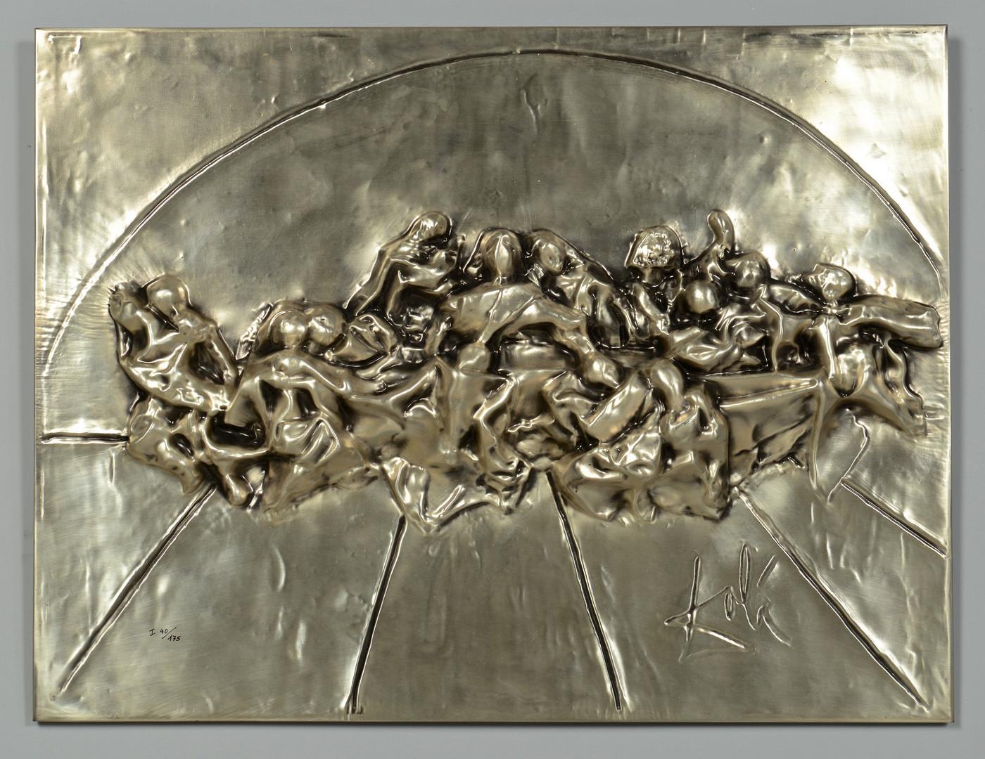 Lot 169: Dali Last Supper Silver Bas Relief