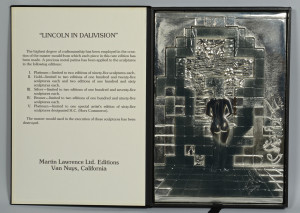 Lot 170: Dali Lincoln in Dalivision Silver Bas Relief