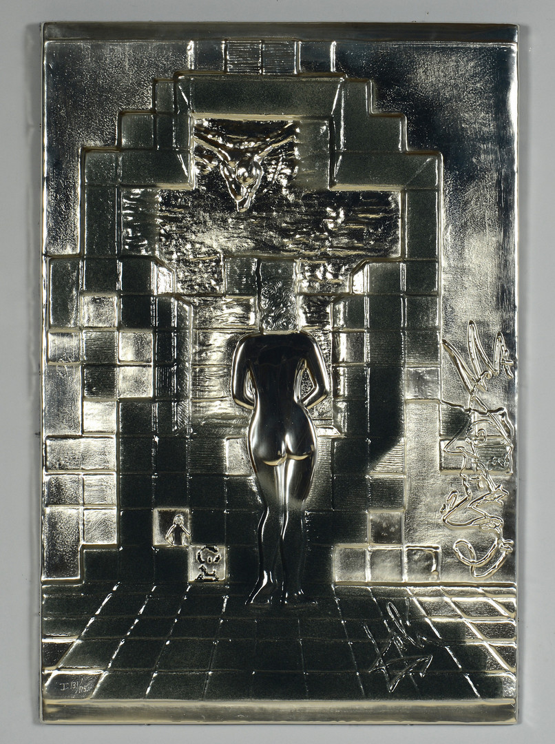 Lot 170: Dali Lincoln in Dalivision Silver Bas Relief