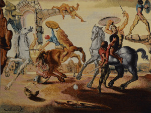 Lot 171: Dali Tapestry, Battle Around A Dandelion
