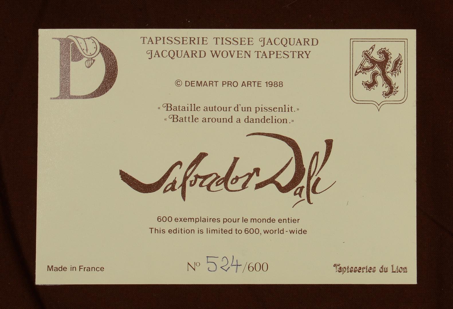 Lot 171: Dali Tapestry, Battle Around A Dandelion