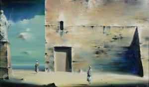 Lot 173: Robert Watson (American) surreal landscape paintin