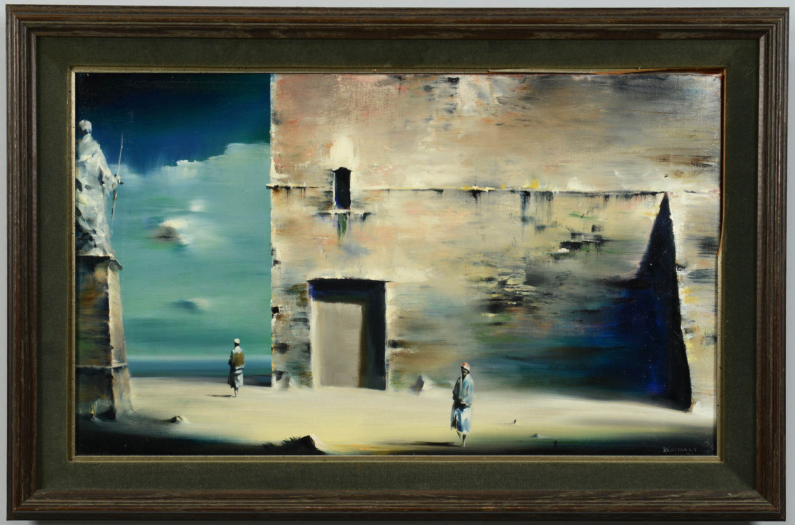 Lot 173: Robert Watson (American) surreal landscape paintin