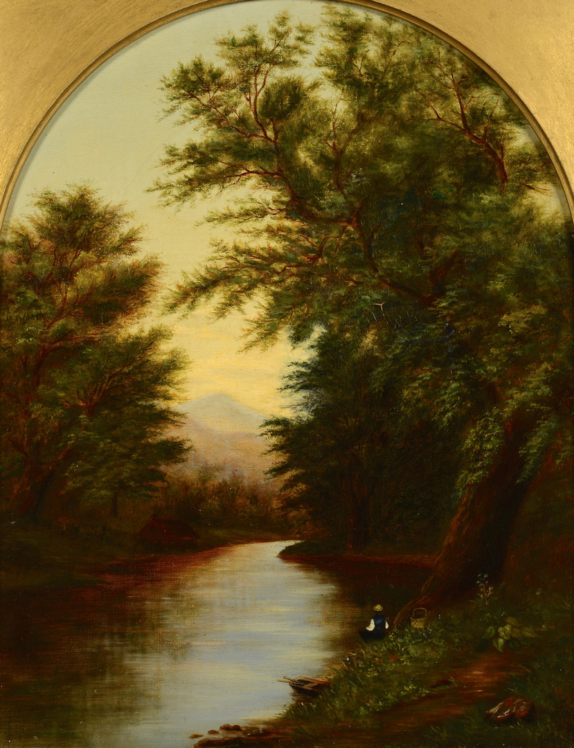 Lot 181: Hudson River School Landscape