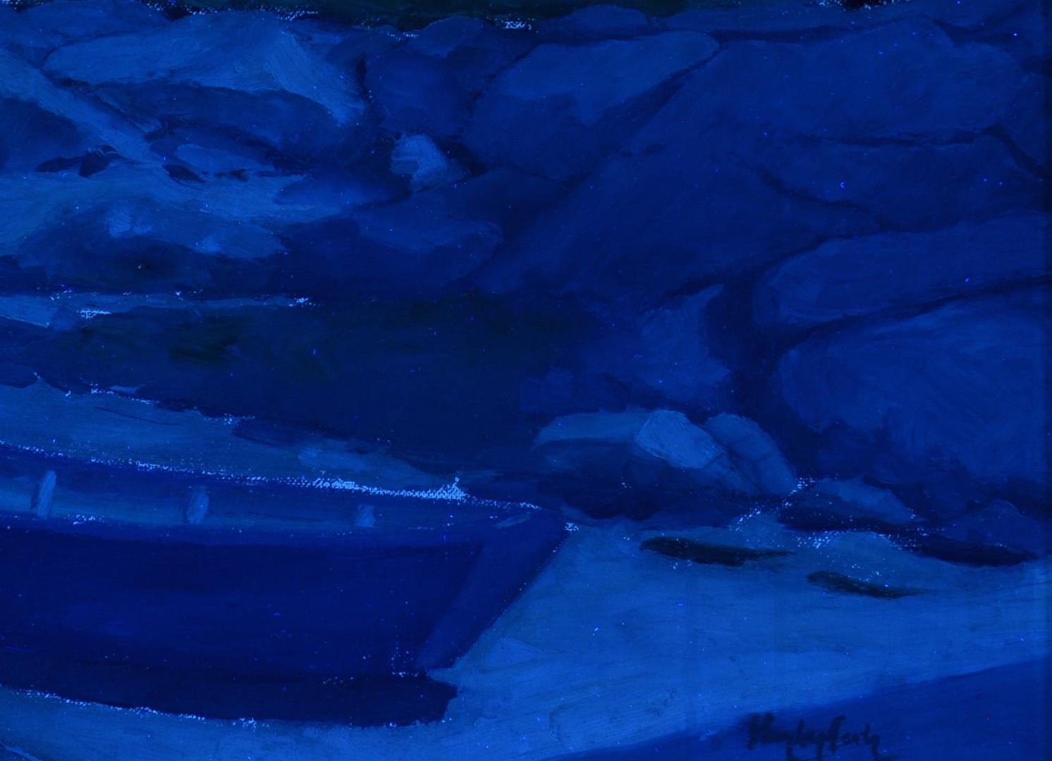 Lot 182: Hayley Lever Oil, Harbor Scene