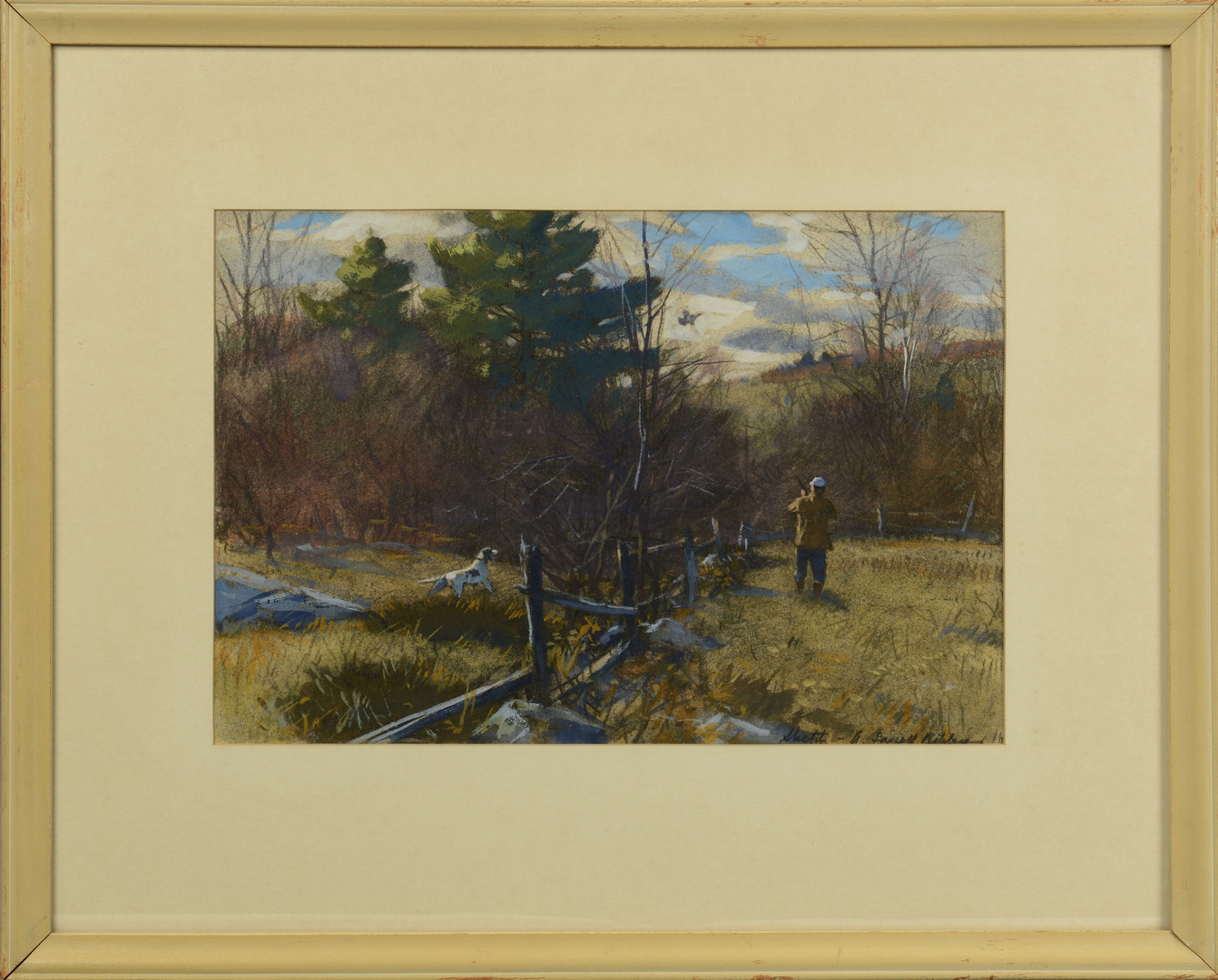 Lot 184: A. L. Ripley, Grouse Hunting Scene