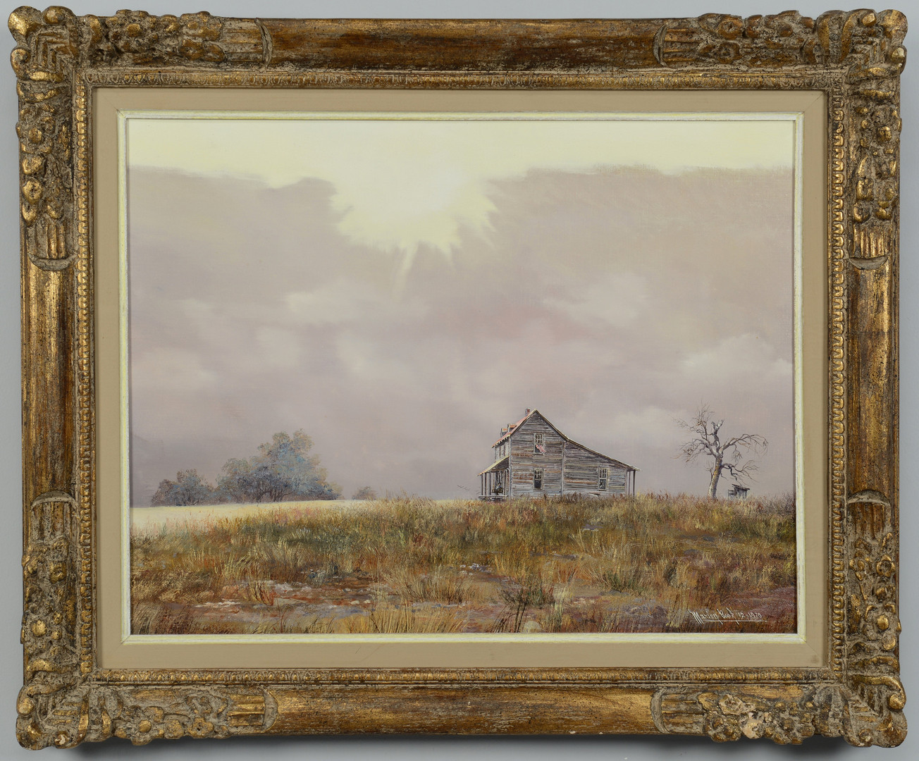 Lot 188: Marion Cook painting, house on a hill