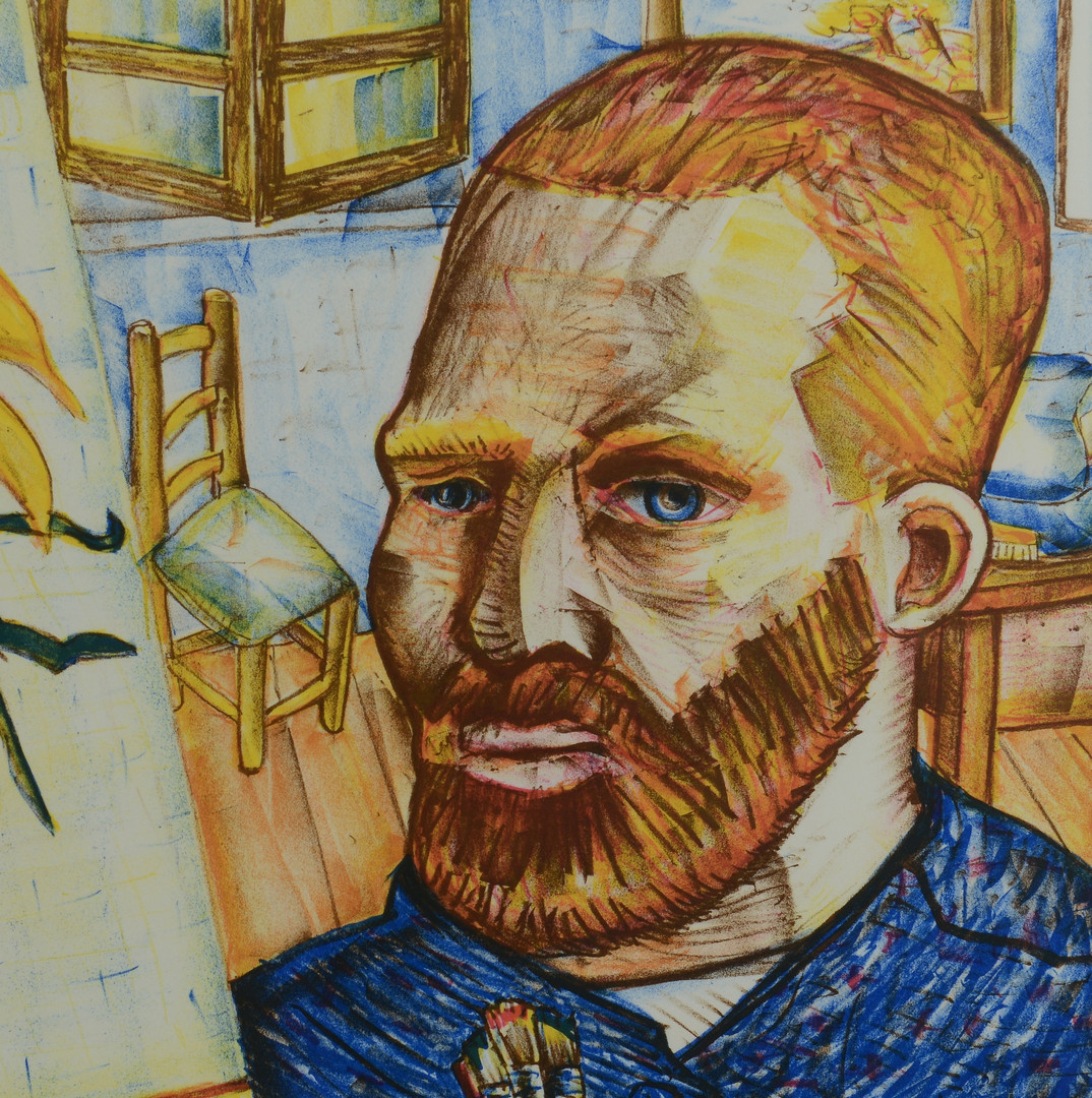Lot 194 Red Grooms Signed Litho Van Gogh