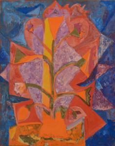 Lot 195: Henry Faulkner mixed media painting