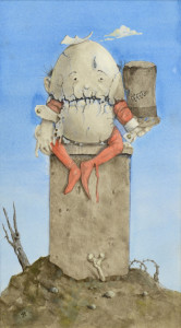 Lot 197: Werner Wildner painting, Humpty Dumpty