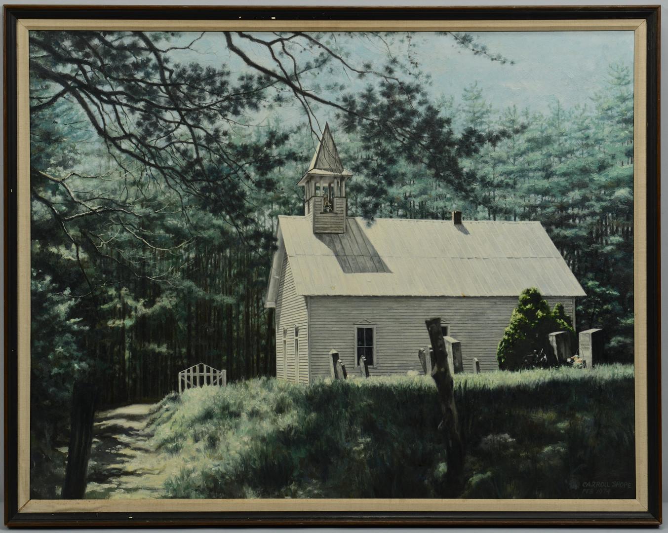 Lot 199: Carroll Shope East TN Oil on Canvas