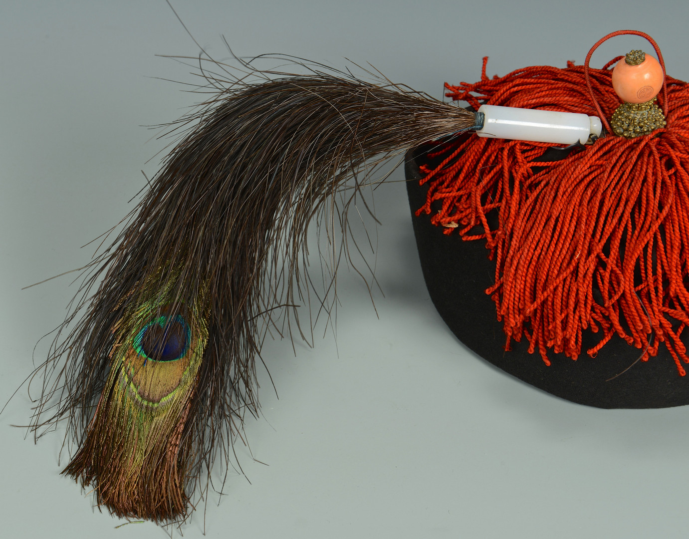 Lot 1: Chinese Qing Official's Winter Hat w/ Spectacles