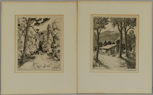 Lot 200: Pr. Leon Pescheret Etchings, TN Mountain Scenes