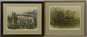 Lot 201: Pair of Xavier Ironside watercolors