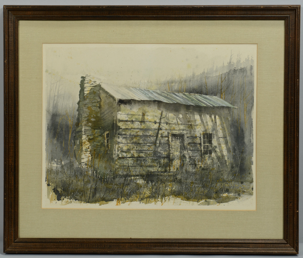 Lot 201: Pair of Xavier Ironside watercolors