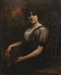 Lot 202: Lloyd Branson O/B Portrait, Mrs. Lay